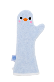 Baby Shower Glove blauwe pinguïn