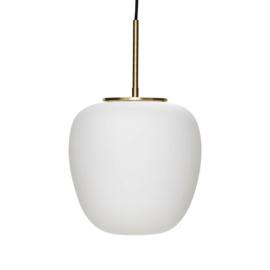 Hanglamp ovaal in wit mat glas van Hübsch