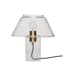 Tafellamp met glazen kap van Hübsch
