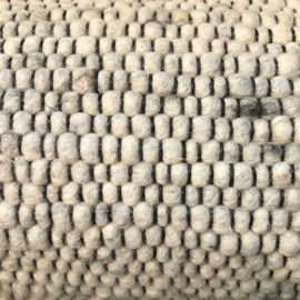 Wollen tapijt lichtgrijs 170 x 230cm