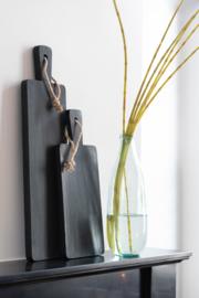 Plank in rubberhout zwart M