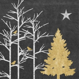Servet Xmas Tree grey 33 x 33cm