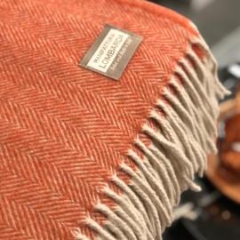 Roeste plaid met wol van Lombarda