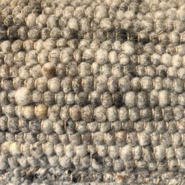 Wollen tapijt grijs gespikkeld 170 x 230cm