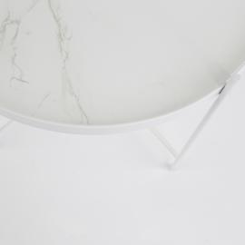 Bijzettafel Cupid met witte marmertekening van Zuiver