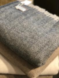 Grijze plaid met wol van Lombarda