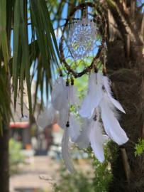 Dreamcatcher met witte pluimen