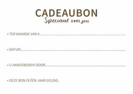 Kadobon van €40 in de webshop