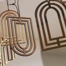 Set van 2 houten hangers