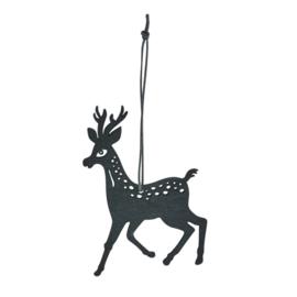 Hangers Hert zwart L in hout (set v.4)