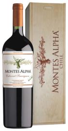 Montes Alpha Cabernet Sauvignon (magnum in houten kist)