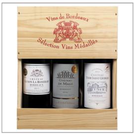 Bordeaux Sélection Vins Médaillés (in 3-vaks kist)
