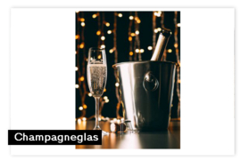 Champagneglas met logo