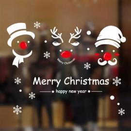 Raamfolie Kerstman