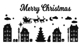 Raamfolie Kerst