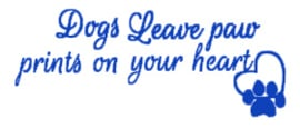 Dog's leave paw..