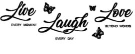Live Laugh Love muursticker