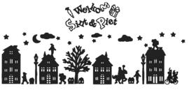 Raamfolie Welkom Sint en Piet