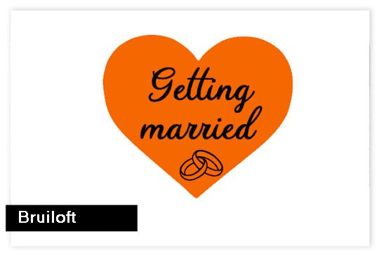 Sluitzegels bruiloft