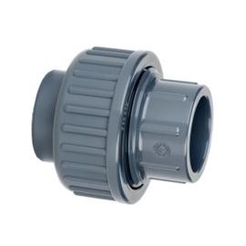 PVC 3-delige koppeling 2x inwendig lijm 16 bar 32 mm