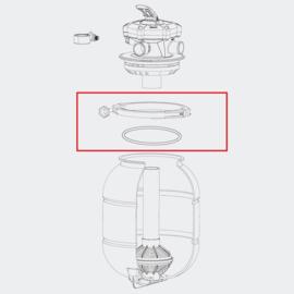 Reserveonderdeel klemring + o-ring voor filterkop 5-wegs klep