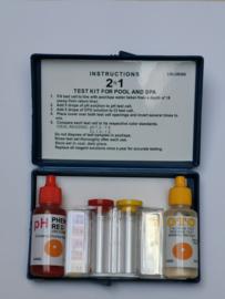 Testkit zwembad spa druppeltest chloor en pH