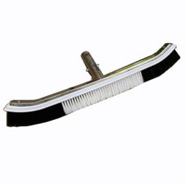 Zwembadborstel aluminium 46cm zwart/wit