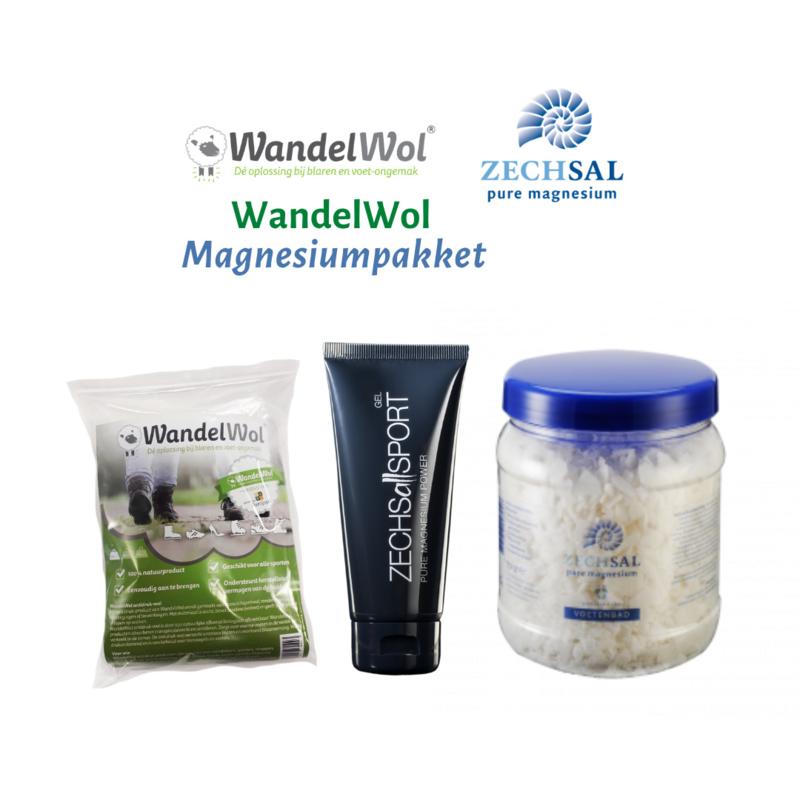 WandelWol Magnesium PakketWandelWol Magnesium Pakket  (10grww/MagnesiumPower100gr/vlokken750gr)