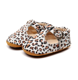 Leren  Supercute schoenen met panterprint