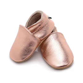Metallic color  leather babyshoes
