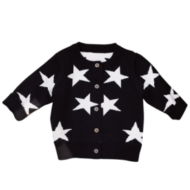 Zwarte vest met sterren