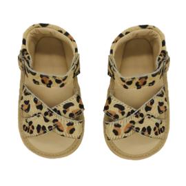 Leren Supercute sandalen met  luipaardprint