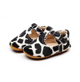 Leren Supercute schoenen met giraffe print