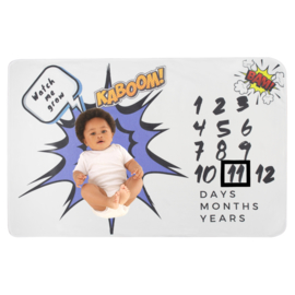 Milestone Blanket Little Hero