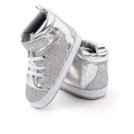 Kinderschoenen Vleugels zilver