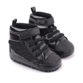 Kinderschoenen Vleugels zwart