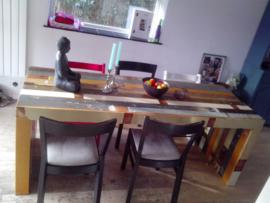 Tafels van geverfd hout