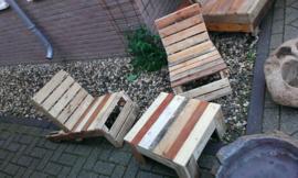 Lounge set gemaakt van pallethout
