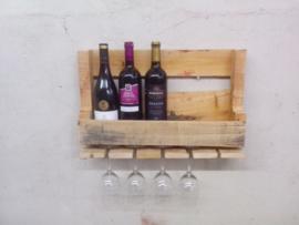 Robuust wijnrek van pallethout