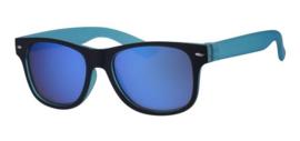 Zonnebril blauw/zwart
