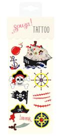Plak Tattoo Piraat