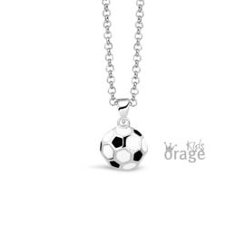 Zilveren kinderketting Voetbal(ORAGE)
