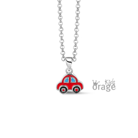 Zilveren kinderketting Auto (ORAGE)