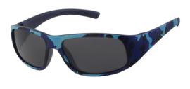 Leger print zonnebril (blauw)