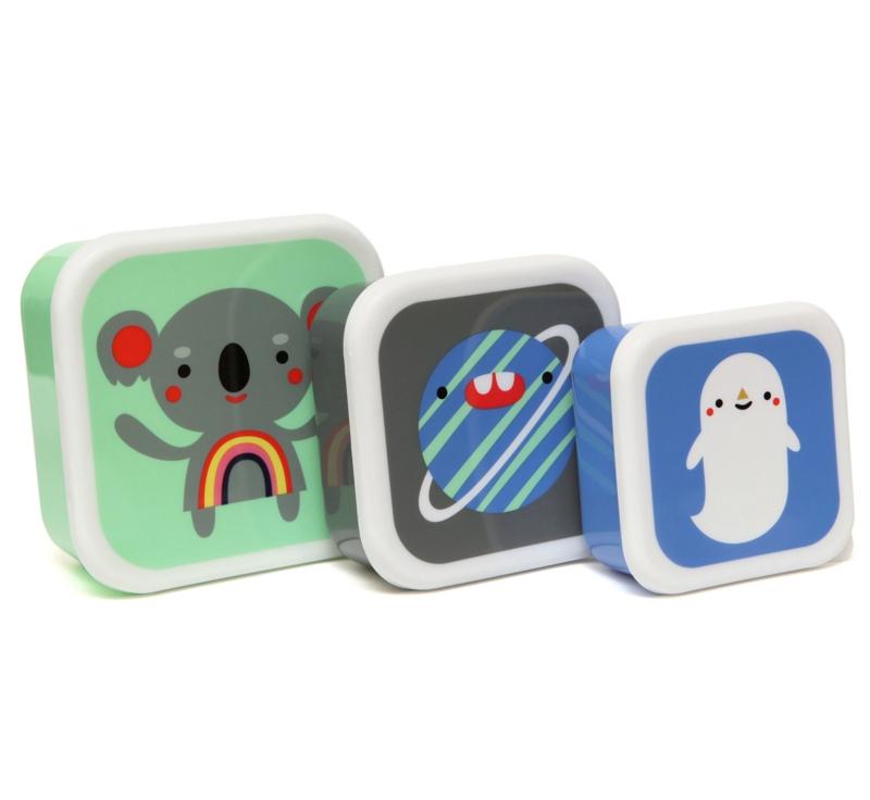 lunchboxen set animails