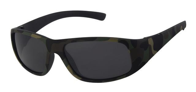 Leger print zonnebril (bruin)