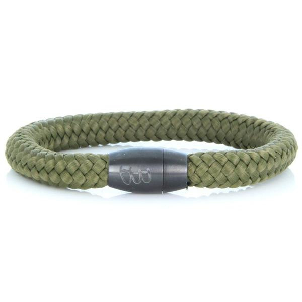 Armband Steel & Rope Green