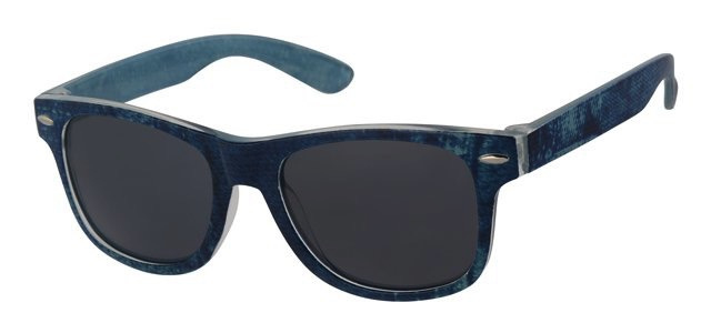 Zonnebril jeansprint blauw