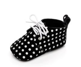 Schoentjes zwart/stip