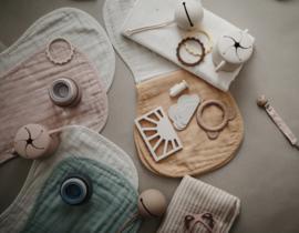 Burp cloth - Blush / Fog